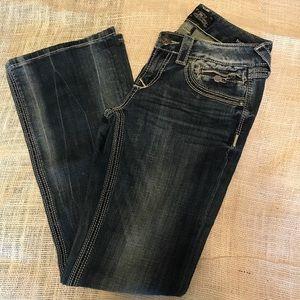 Express ReRock Bootcut distressed jeans
